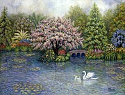 Top Seller Paintings - Swan Lake by Linda Mears