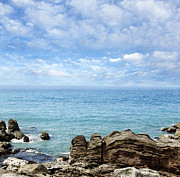 Beach Scenery Prints - New Zealand Print by Les Cunliffe