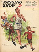 Athletes Drawings Framed Prints - 1930s,uk,the Passing Show,magazine Cover Framed Print by The Advertising Archives