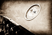 Car Photos Prints - Chevrolet Corvette Hood Emblem Print by Jill Reger