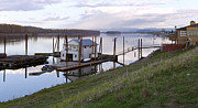 Wooden Platform Metal Prints - Floating house on the Columbia river. Metal Print by Gino Rigucci
