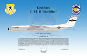 Lockheed Aircraft Framed Prints - Lockheed C-141B Starlifter Framed Print by Arthur Eggers
