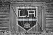 Puck Framed Prints - Los Angeles Kings Framed Print by Joe Hamilton