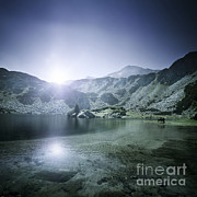 World Rock Posters - Ribno Banderishko Lake In Pirin Poster by Evgeny Kuklev
