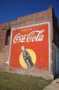 Fine Bottle Posters - Route 66 - Coca Cola Ghost Mural Poster by Frank Romeo