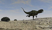 Running Digital Art - Yangchuanosaurus Running by Kostyantyn Ivanyshen