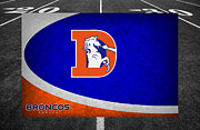 Broncos Prints - Denver Broncos Print by Joe Hamilton