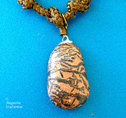 Brown Jewelry Prints - Aphrodite Pandemos Necklace Print by Augusta Stylianou