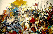 Gorecki Paintings - Battle of Grunwald by Henryk Gorecki
