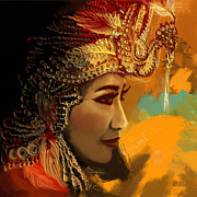 Dancer Art Prints - South Asian Art  Print by Corporate Art Task Force