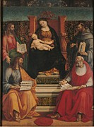 Mary Holding The Christ Prints - Italy, Lombardy, Milan, Brera Art Print by Everett