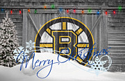Ice Skate Prints - Boston Bruins Print by Joe Hamilton