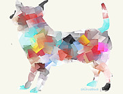 Chihuahua Colorful Art Prints - Chihuahua  Print by Brian Buckley