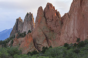 Colorful Cloud Formations Prints - Garden of the Gods in Evening Light Print by Richard Smith