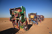 Spray Paint Cans Photos - Route 66 - Cadillac Ranch by Frank Romeo