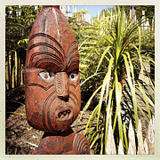 Engraving Photo Posters - Maori carving Poster by Les Cunliffe