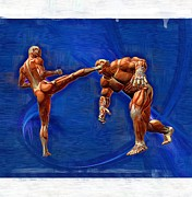 Judo Prints - Mixed Martial Arts Print by Joseph Ventura