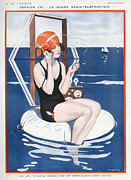 Swimsuits  Swimming Costumes Prints - La Vie Parisienne  1923 1920s France Print by The Advertising Archives