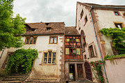 Riquewihr Framed Prints - The historical village Riquewihr in the Alsace Framed Print by Jan Marijs