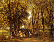 19th Paintings - A Country Wedding by Charles Thomas Burt