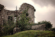 Ruins Metal Prints - A Cross in the Ruins Metal Print by Olivier Le Queinec