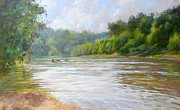 A Day At The River  Fine Art Print by Nancy Stutes