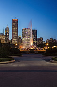 Chicago Skyline Photos - A different view of Chicagos Buckingham Fountain by Sven Brogren