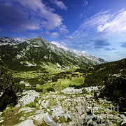 World Rock Posters - A Green Valley Through Pirin Mountains Poster by Evgeny Kuklev
