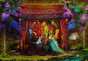 Alice In Wonderland Metal Prints - A Mad Tea Party Metal Print by Aimee Stewart