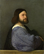 Famous Artists - A Man with a Quilted Sleeve by Titian