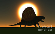 Scale Digital Art - A Sail-backed Dimetrodon From Earths by Mark Stevenson