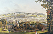 Hill Drawings Framed Prints - A View of Bath Framed Print by English School