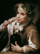 Young Man Posters - A Young Man Drinking. 1st Half 18th C Poster by Everett