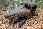 Rusty Pickup Truck Photos - Abandoned 1940s International Harvester Pickup - Woodstock New Hampshire USA by Erin Paul Donovan