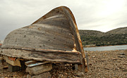 Sail Fish Prints - Abandoned Nafplio Fishing Boat Print by Deborah Smolinske