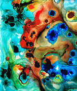Coral Reef Prints - Abstract 4 - Abstract Art By Sharon Cummings Print by Sharon Cummings