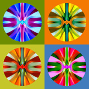 Circle Abstracts Digital Art - Abstract Circles and Squares 1 by Amy Vangsgard