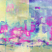 Beauty Mark Prints - Abstract City Print by Mark-Meir Paluksht