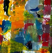 Grungy Paintings - Abstract Color Relationships ll by Michelle Calkins
