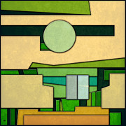Featured Art - Abstract Cubist Three by Gary Grayson