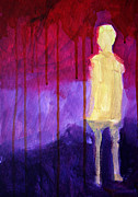 Hallucination Painting Prints - Abstract Ghost Figure No. 3 Print by Nancy Merkle