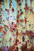 Original Abstracts Digital Art - Abstract Peeling Paint by Christina Rollo