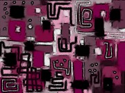 Streetview Posters - Aerial Neighbourhood Abstract in Pink Poster by Barbara St Jean