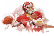 Roll Tide Digital Art Posters - Aj  Poster by Steven Lester