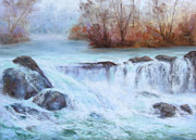 White River Pastels Prints - Albion Stream Print by Christine Bass