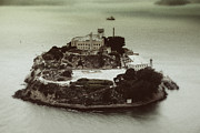 Arial View Photos - Alcatraz Vintage Arial View 1. by Laszlo Rekasi