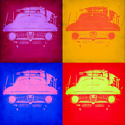 Italian Classic Car Prints - Alfa Romeo  Pop Art 2 Print by Irina  March