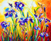 Iris Paintings - Alpha and Omega by Talya Johnson