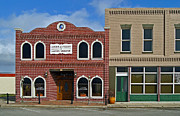 Nolan Ryan Prints - Alvin Texas 1800s Buildings Print by Arco Montufar