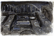 Printmaking Mixed Media - American Ruins by Steve Dininno